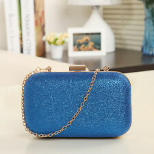 New Fashion Women Ladies HandBags Clutch Box Evening Party Glitter Chain Wallet