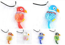 JT99 LOVELY Parrot lampwork Murano glass charm beaded pendant CUTE necklace p863