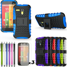 Future armor Heavy Duty Hybrid Stand Case Cover For Motorola Moto G XT1032 LTE