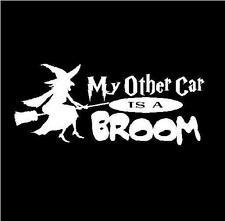 "Witch My Other Car Is a Broom Car Truck Auto Decal Sticker Size: 6""X2.5"""