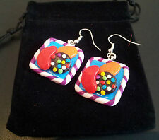 Candy Crush Saga Inspired Earrings Handmade in UK by The Oswestry Bead Workshop