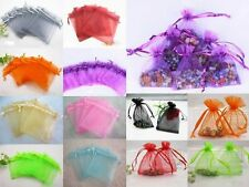 Wholesale Sheer Colors Organza Wedding Party Favor Gift Bags Jewelry Beads Pouch