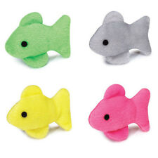 Savvy Tabby Fishy Friends Cat Toy Catnip Cat Toy Set of 2