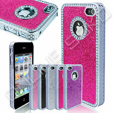 New Luxury Crystal Diamond Glitter Cover Bling Chrome case for iphone 4 4s 5 5s