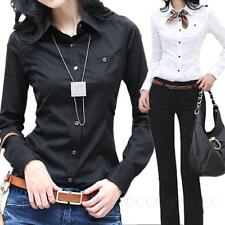 Ladies Blouse Womens Long Sleeve Office Top Vintage Business Shirt Size 6 4 2 0