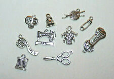 25/50 TIBETAN SILVER  KNITTING or SEWING  CHARMS  #JEWELLERY MAKING/CRAFTS