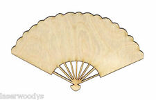 Desiree Fan Unfinished Wood Shape Cut Out DF967 Crafts Lindahl Woodcrafts