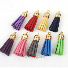 Colors Jewelry Handmade DIY Leather Tassel For Phone Charms Straps Pendants Bluk
