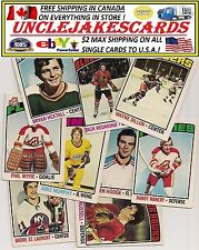 1976-77 OPC BUFFALO SABRES Select from LIST SEE SCAN NHL HOCKEY CARDS O-PEE-CHEE
