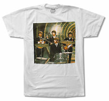 "THE BEATLES ""DRUMS"" BAND PHOTO WHITE T-SHIRT NEW OFFICIAL ADULT"