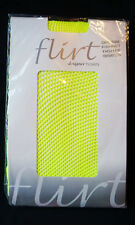 Funki-B Neon Yellow UV fishnet tights sexy hosiery fancy dress costume clubwear
