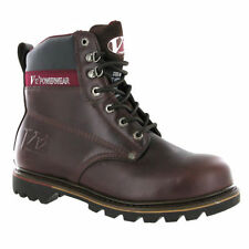 MENS V12 POWERWEAR LEATHER RICH MAHOGANY  WORK STEEL TOECAP BOOTS,V1236 BOULDER