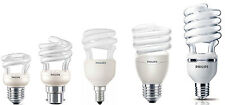 Philips Energy Saving Spiral Light Bulbs 5w, 8w, 12w, 20w, 23w, 42w, 60w,75W