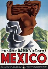 TR30 Vintage Same Victory Mexico Mexican Travel Poster Re-Print A2/A3/A4