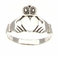Sterling Silver Traditional Irish Claddagh Ring Sizes L to V - Choose Your Size