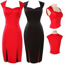 HOT CHEAP~Vintage Style 50s Pencil Wiggle Rockabilly Pinup BODYCON Office Dress
