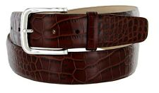 "Valley View - Genuine Leather Italian Calfskin Designer Dress Belt 1-1/2"" Wide"