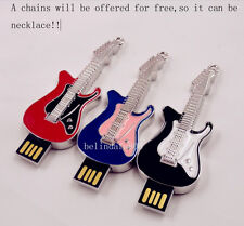 New fashion mini cute guitar model usb 2.0 memory stick pen thumb drive 4GB-32GB