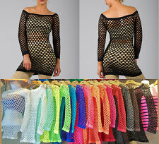 FREE SIZE S M L Sexy Fish Net Shirt Club Wear Long Sleeve GOGO Dance Top Blouse