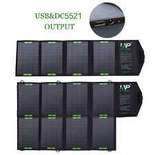 18V Portable Solar Panel Battery Backup Charger Dual Output For Laptop Phones PC