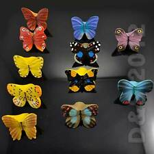 Colorful Butterfly Type Kitchen Cupboard Door Drawer Pull Knob Handle Room Decor
