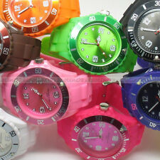 FASHION Watch KID Unisex Silicone Jelly Candy Dial Quartz Wrist bangle 13 colors