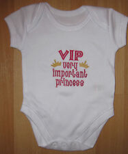 VIP Very Important Princess Baby Vest Grow Babies Clothes Funny Gift Girl Pink