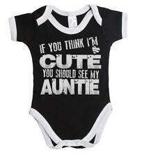 If You Think I'm Cute You Should See My Auntie Baby Vest Boy Or Girl *Sale* ~