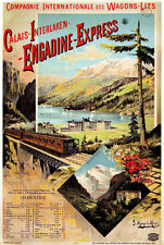 TX124 Vintage Engadine Express Calais French Railway Travel Poster A2/A3/A4