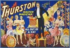 M2 Vintage 1910 Thurston Out Of A Hat Magic Magician Theatre Poster A1/A2/A3/A4