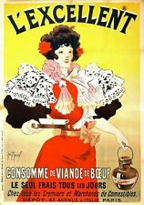 AD76 1895 L'excellent Paris French Art Nouveau Advertisement Poster A1 A2 A3 A4
