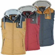 Mens Crosshatch Gilet/ Body Warmer 'Frantons' Hoodie/ Hooded Jacket/ Coat