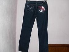 NWT~WOMAN'S/JRS. SEXY ENYCE SILVER LIPS STRETCH BLUE JEANS. 4 SIZES TO CHOOSE