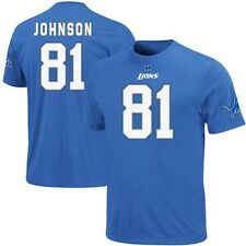 "Calvin Johnson Detroit Lions ""Eligible Receiver"" Jersey Blue T Shirt Men'S LG"