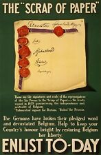 WA107 Vintage WW1 British Scrap Of Paper Enlist Today War Poster A1/A2/A3/A4