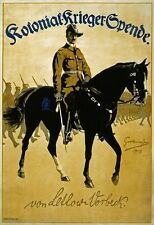 WA133 Vintage WW1 German Lettow-Vorbeck War Funds Poster WWI A1/A2/A3/A4
