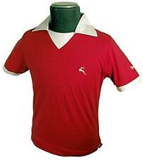 SALE! NEW MENS BUKTA RETRO INDIE 70S STYLE FOOTBALL T-SHIRT TEE TOP Best RED