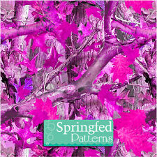 ROLL of PINK TREE CAMO PATTERN CRAFT VINYL #1 Camouflage Vinyl Decal PICK A SIZE