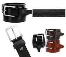 Mens Italian Designer Dress Casual Genuine Calfskin Leather Belt 35mm 3 Colors