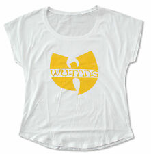 "WU-TANG ""CLASSIC"" LOGO LADIES WHITE T-SHIRT NEW OFFICIAL WUTANG RAP"