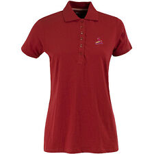 Women's St. Louis Cardinals Spark 100% Cotton Washed Jersey 6-Button Polo