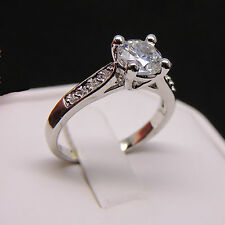 Natalie AAA Quality CZ Wedding Bridal Engagement Ring 18K White Gold Plated