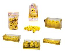 EASTER DECORATIONS Fluffy Feather Yellow Chicks Nest Bonnet Cake Hat Decorating