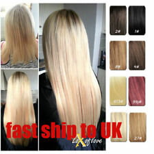 Full Head One Piece Clip In 100% Human Hair Extensions Hair pieces Be Customized
