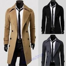 2013 Hot Men's Stylish Trench Coat Long Jacket Double Breasted Winter OUTWEAR