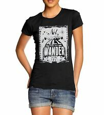 Womens Distress Print All Those Who Wander Funny T-Shirt