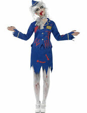 Ladies Zombie Dead Air Hostess Halloween Fancy Dress Outfit Costume