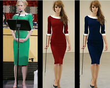 Sexy Womens Celebrity Style Ladies Bodycon Business Work Pencil Cocktail Dress
