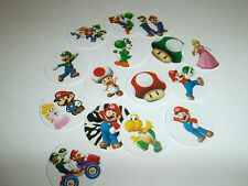 Pre Cut One  Inch MARIO VIDEO GAME Free Shipping