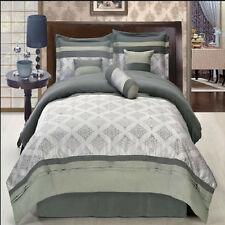 Thomasville Gray 11 Piece Bed in a Bag Comforter Set  w/ optional curtains